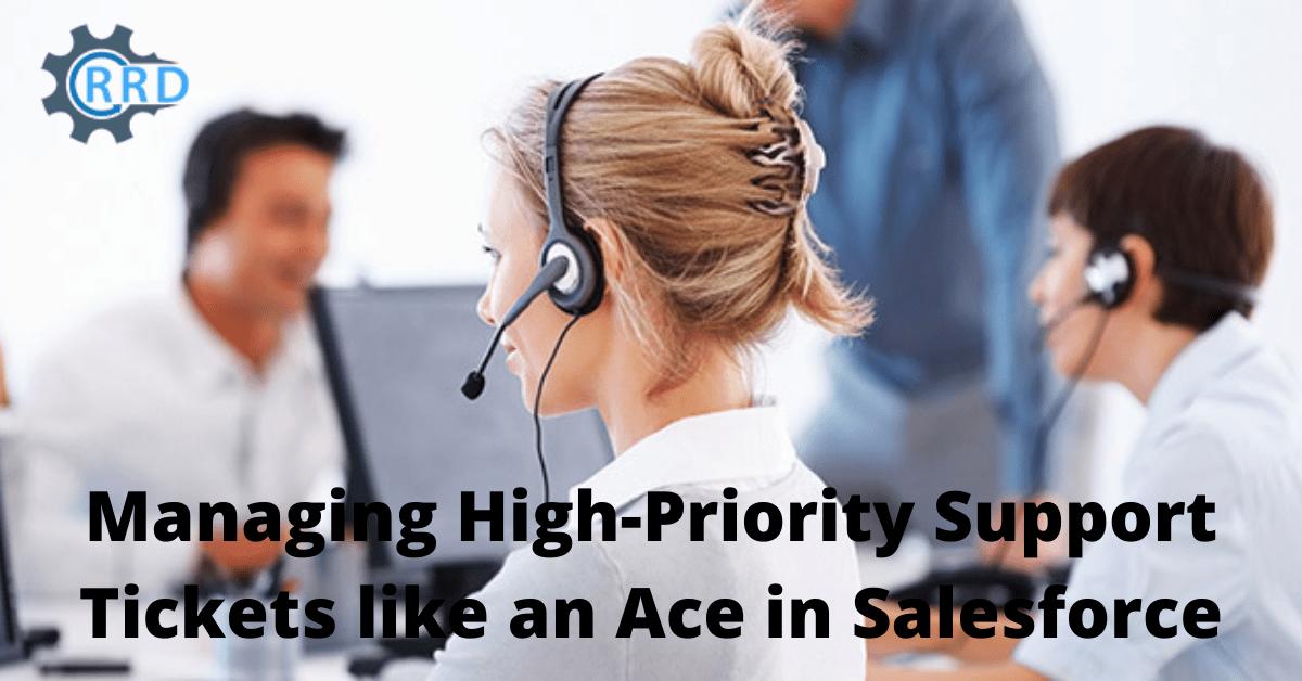 manage tickets in salesforce